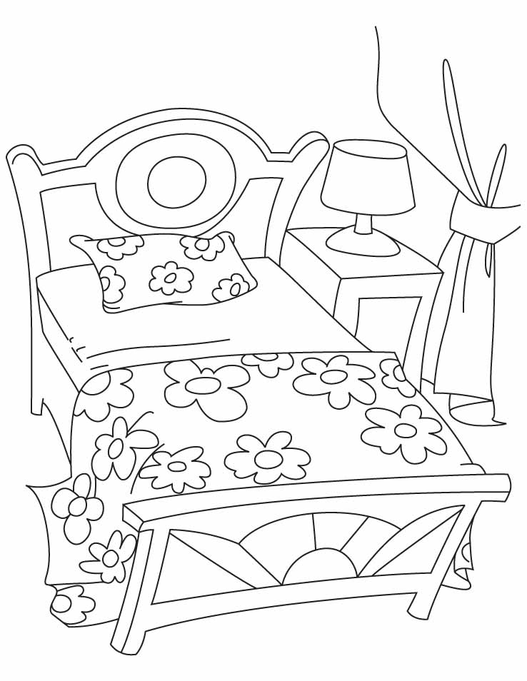 Top 20 Printable Furniture Coloring Pages