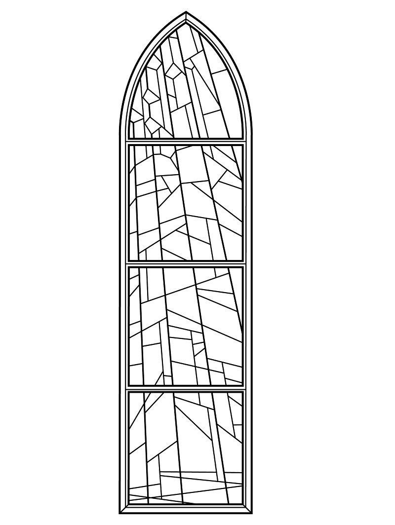 Bible Coloring Pages - Stained Glass Nativity Coloring Pages ... | 1064x800
