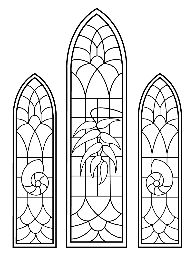 Top 20 Printable Stained Glass Coloring Pages