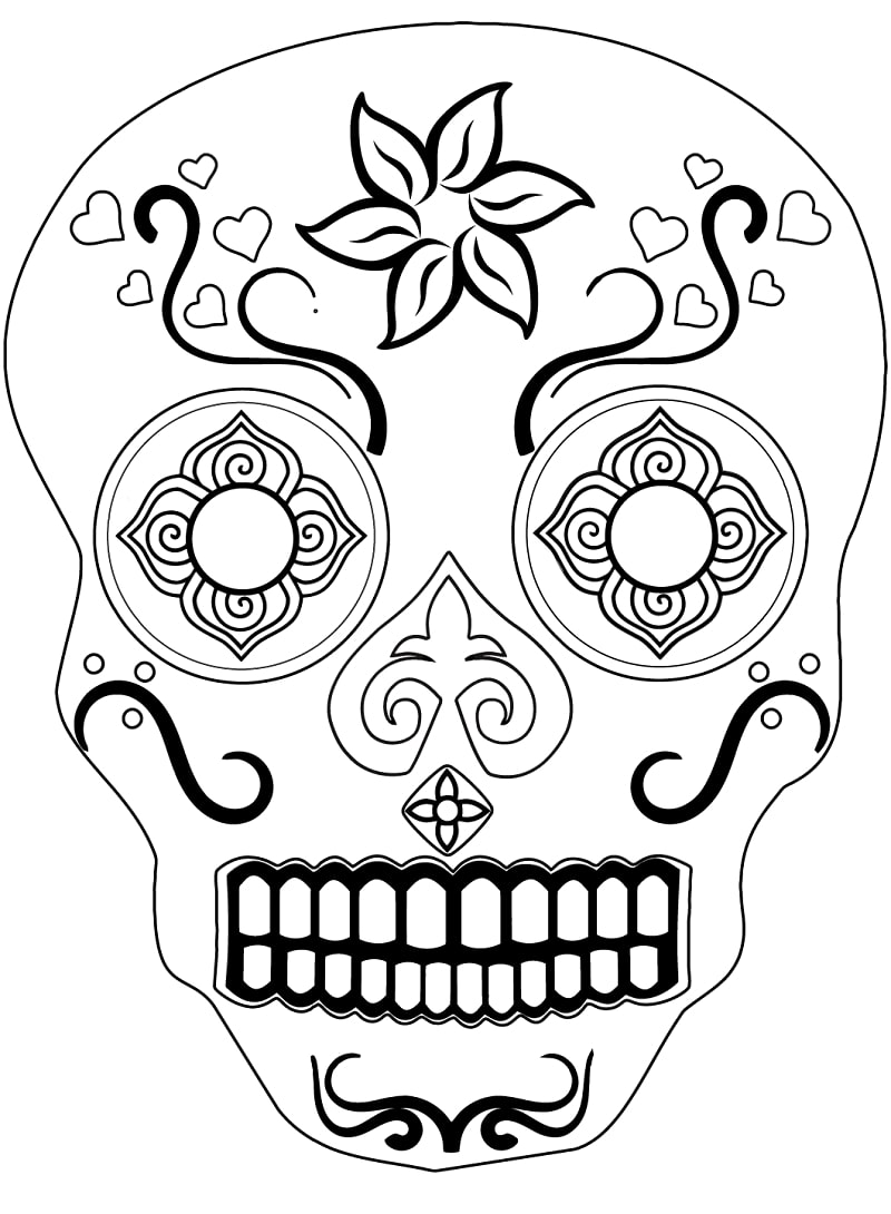 Top 20 Printable Sugar Skull Coloring Pages