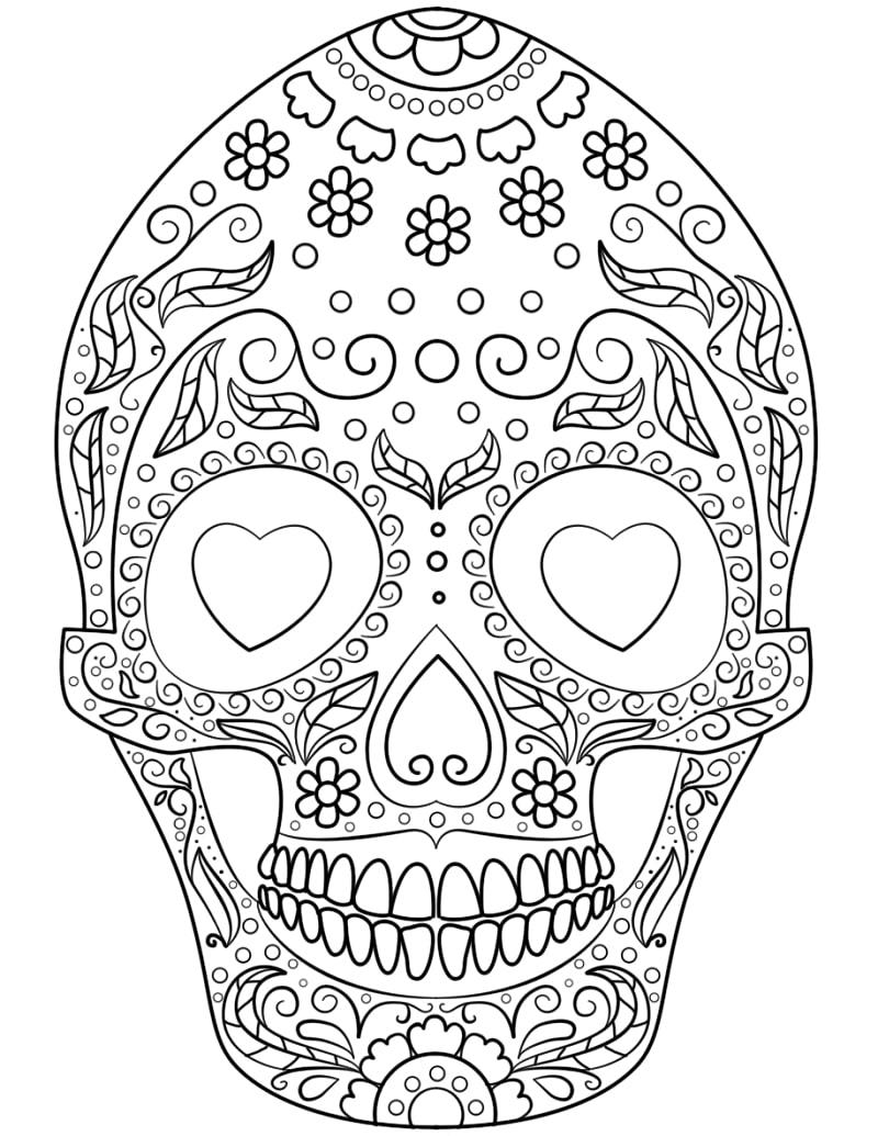 top 20 printable sugar skull coloring pages - online