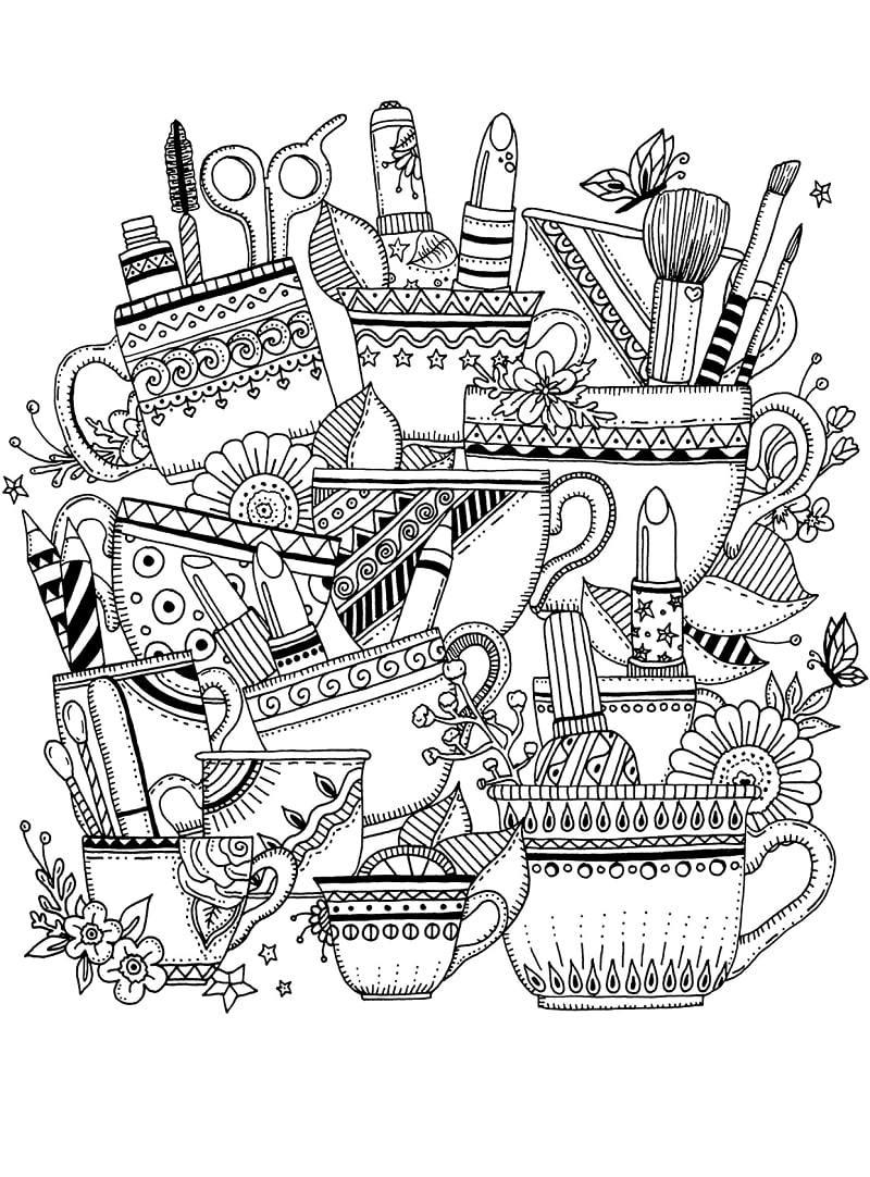 Top 20 Printable Zentangle Coloring Pages