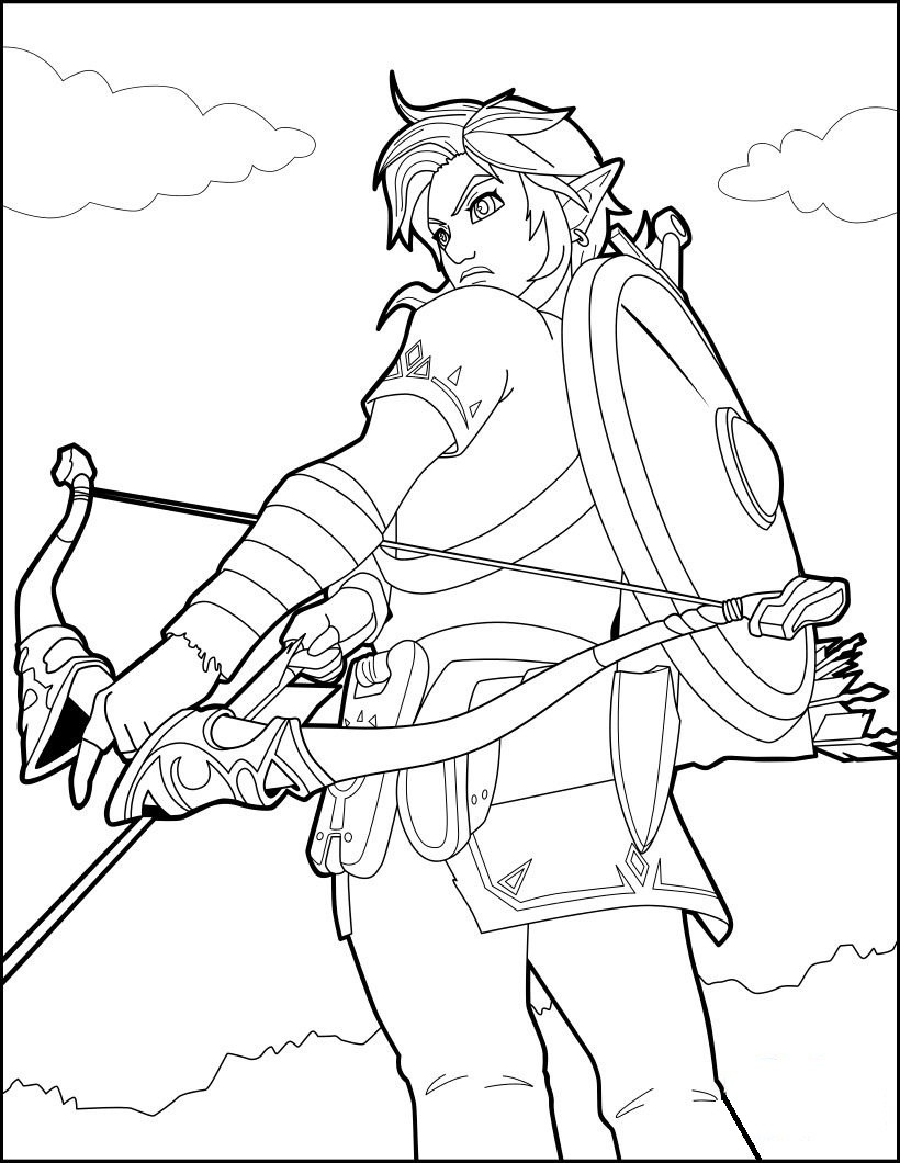 Top 20 Printable The Legend Of Zelda Coloring Pages Online Coloring Pages