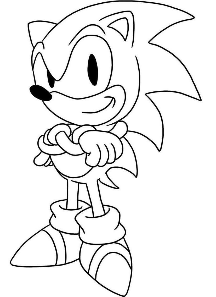 Top 20 Printable Sonic the Hedgehog Coloring Pages