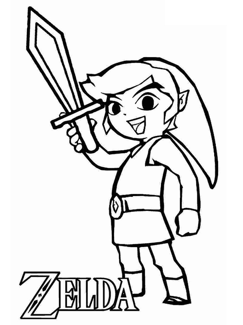 Top 20 Printable The Legend of Zelda Coloring Pages