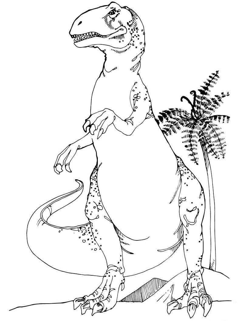 Top 20 Printable Dinosaurs Coloring Pages