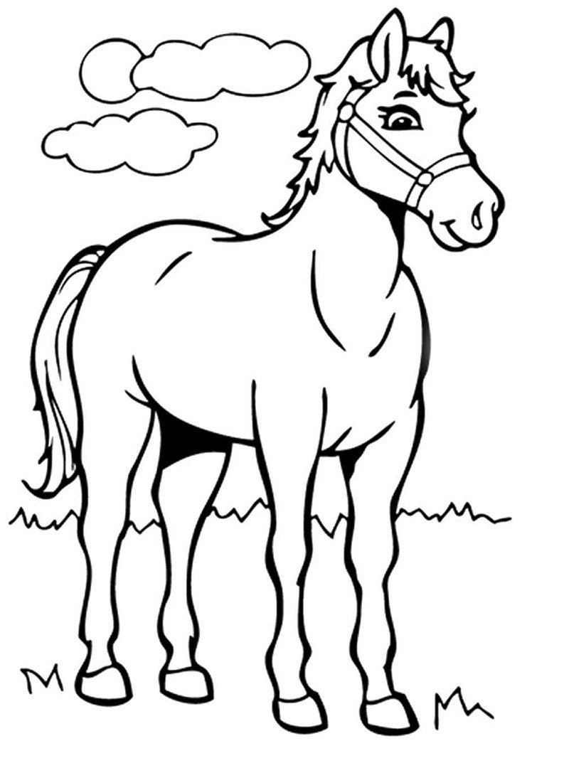 Top 20 Printable Horse Coloring Pages