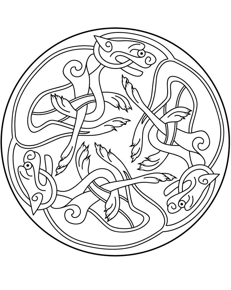 Celtic Mandala coloring page   Free Printable Coloring Pages   1006x800