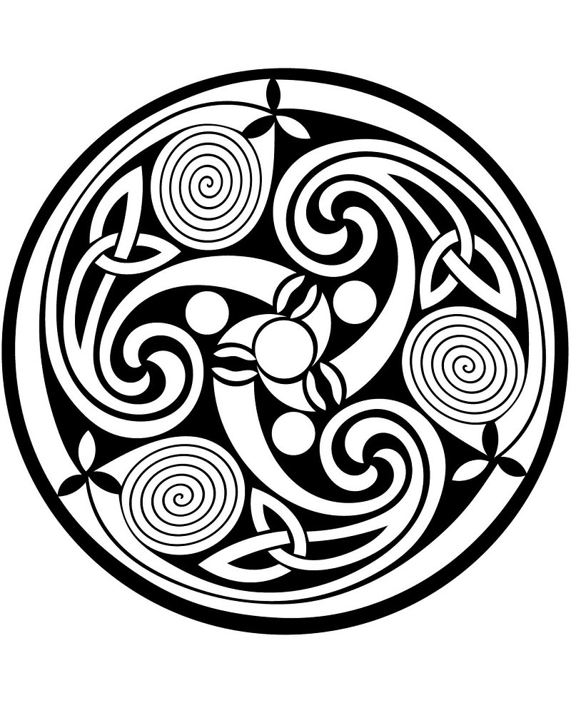 Printable Celtic Coloring Pages - AZ Coloring Pages | Celtic ... | 1006x800