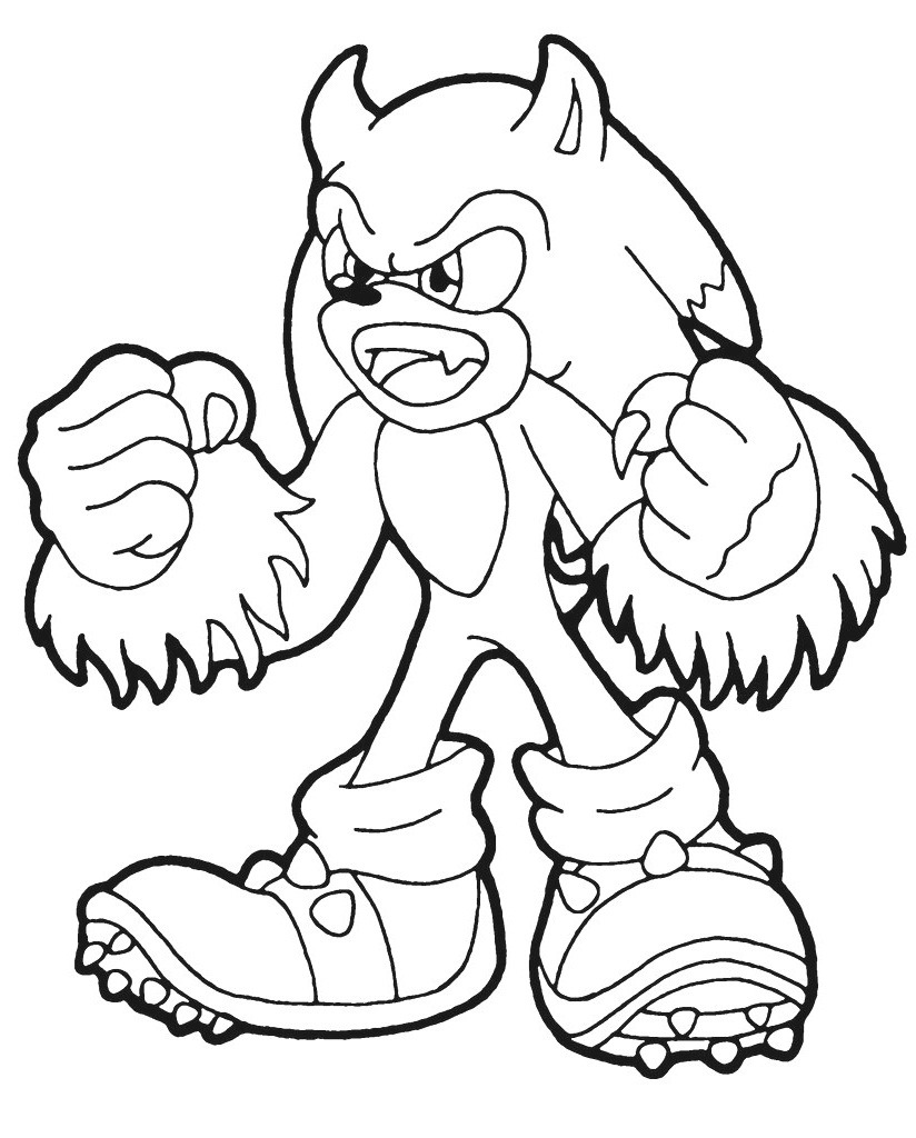 Top 20 Printable Sonic the Hedgehog Coloring Pages ...