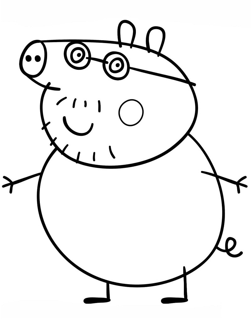 FREE COLORING PAGES: Peppa Pig Coloring Pages Streets with Cars | 1053x800