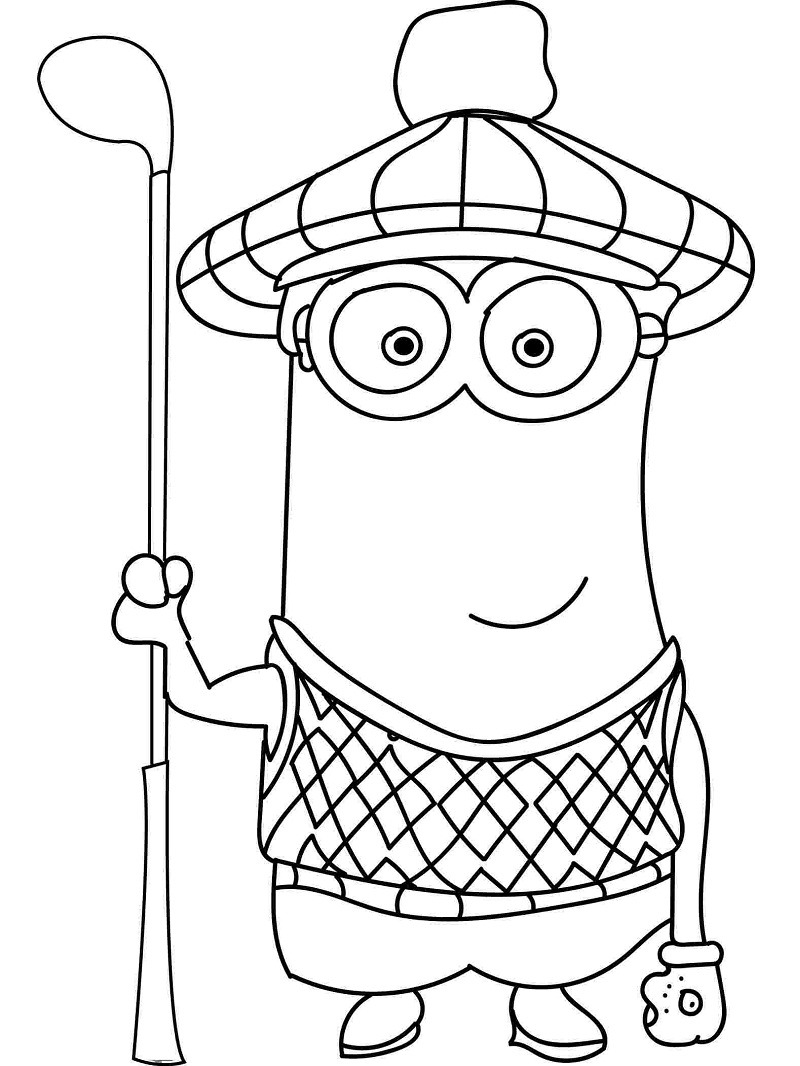 Golf Coloring Huangfei Info Sheets For Free Online Coloring Pages