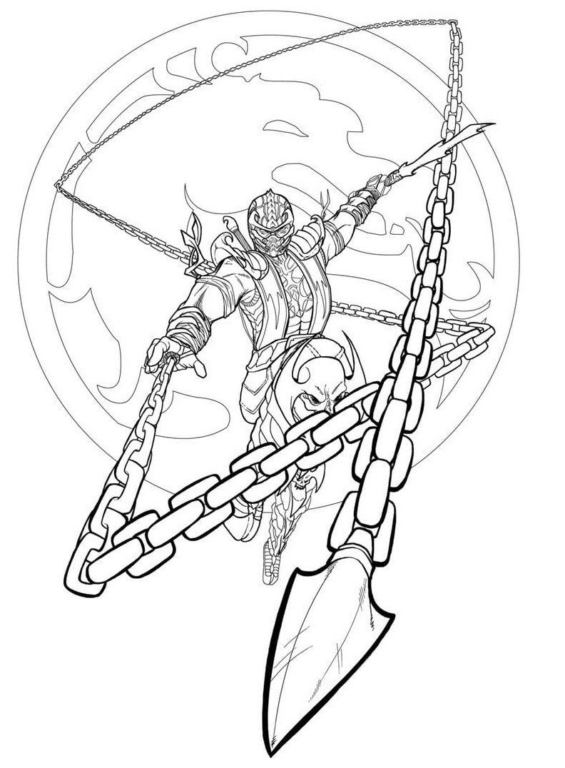Top 20 Printable Mortal Kombat Coloring Pages