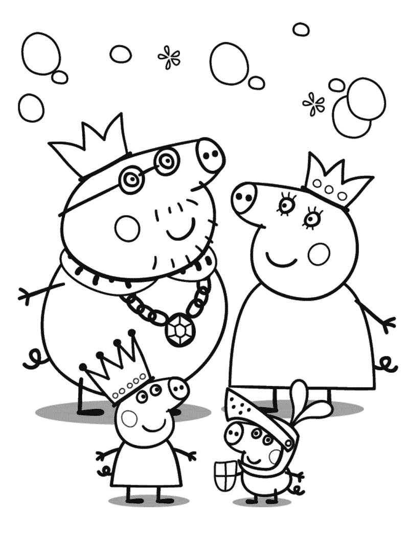 Top 20 Printable Peppa Pig Coloring Pages