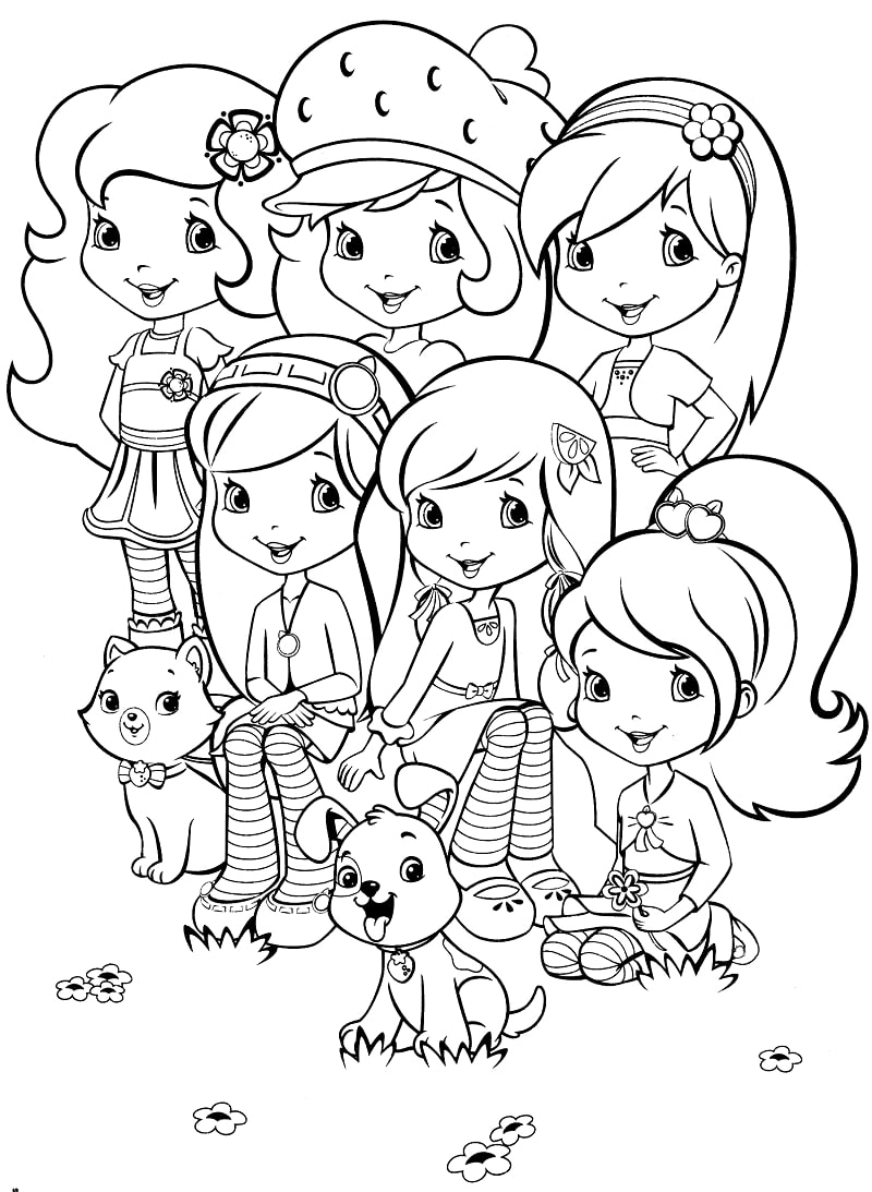 Top 20 Printable Strawberry Shortcake Coloring Pages