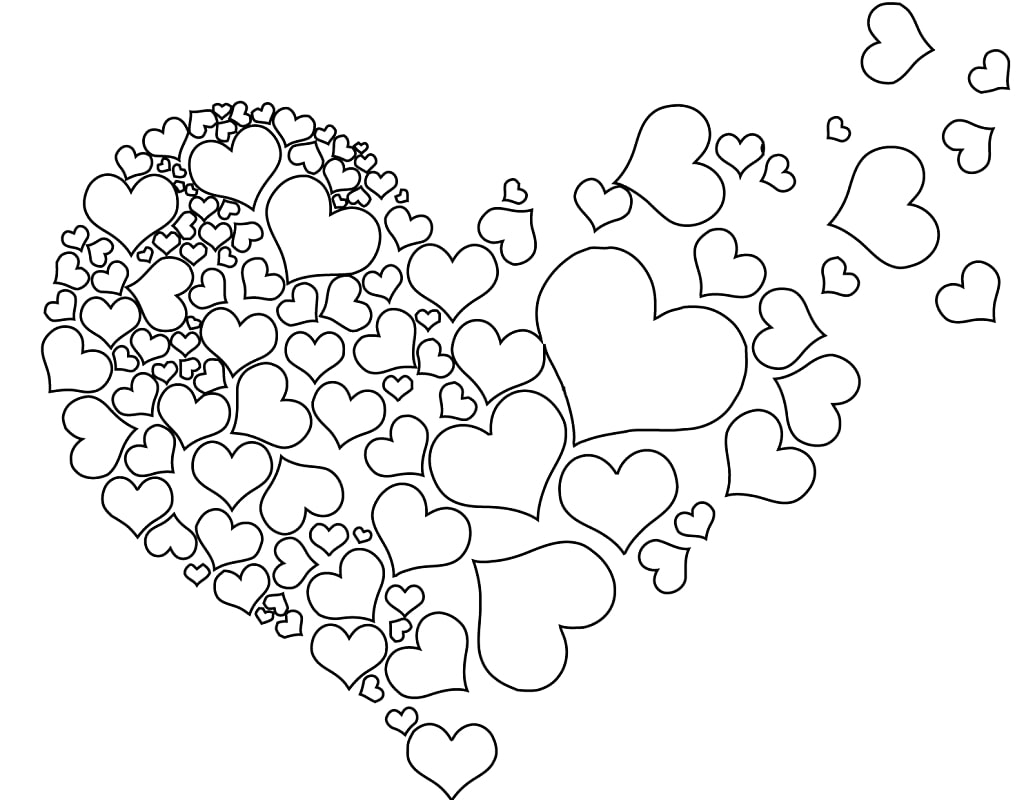 Top 20 Printable Heart Coloring Pages