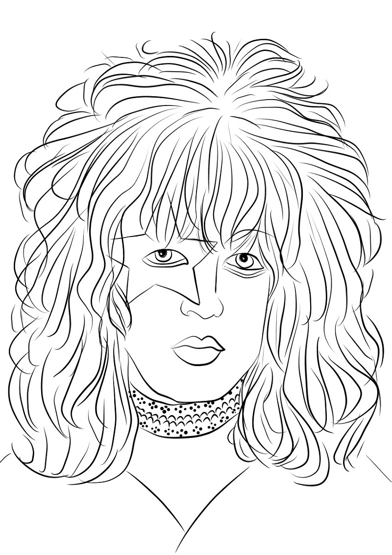 Top 20 Printable Rock Star Coloring Pages - Online ...