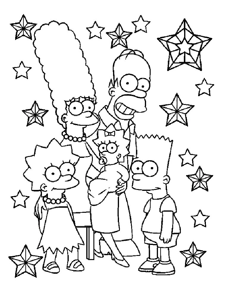 Top 20 Printable The Simpsons Coloring Pages