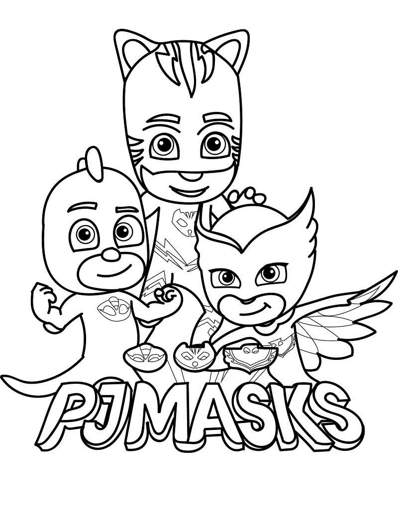 Top 20 Printable PJ Masks Coloring Pages
