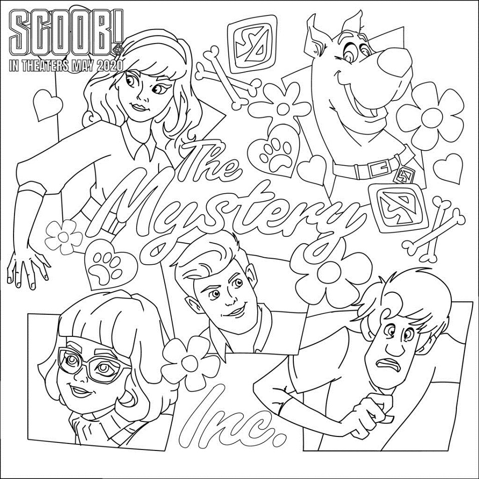 Top 18 Printable SCOOB! Coloring Pages