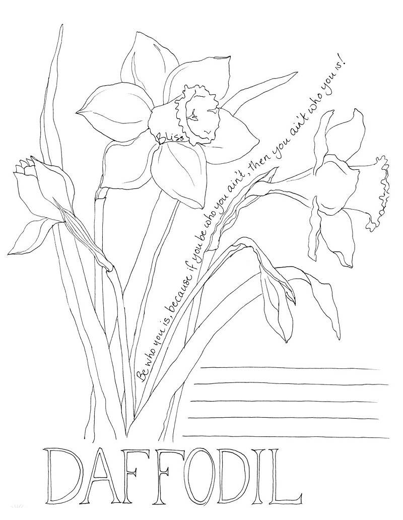 Top 20 Printable Daffodil Coloring Pages