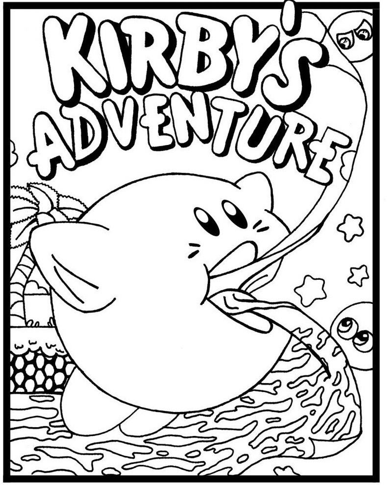Top 20 Printable Kirby Coloring Pages
