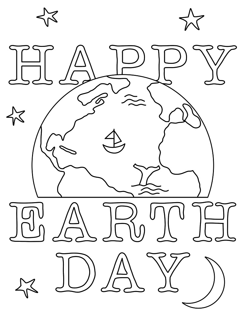Top 20 Printable Earth Day Coloring Pages