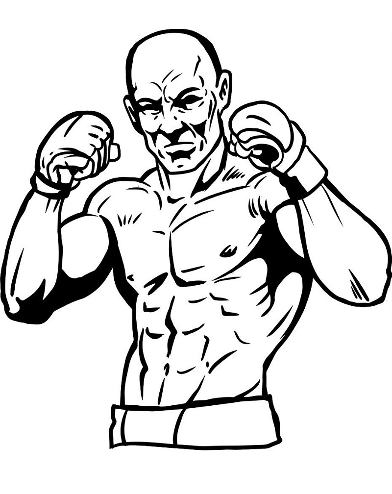 Top 20 Printable Boxing Coloring Pages