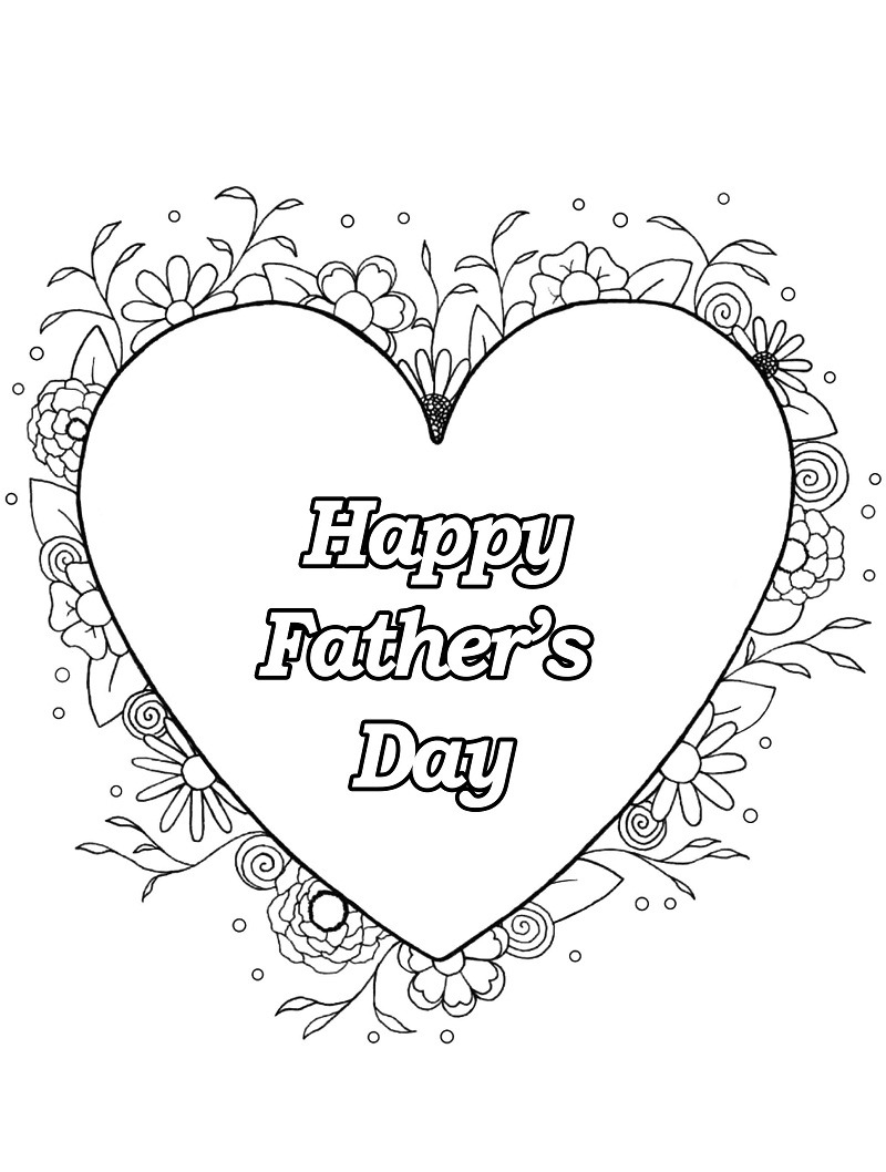 Top 20 Printable Father's Day Coloring Pages