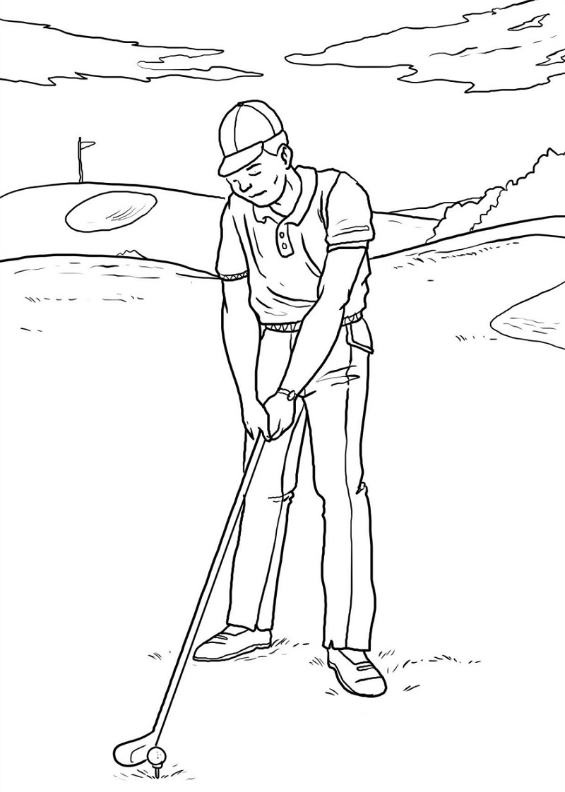 Top 20 Printable Golf Coloring Pages - Online Coloring Pages