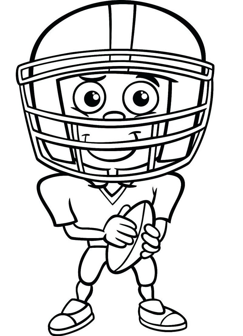Football Coloring Pages Printable Player Free Online Coloring Pages