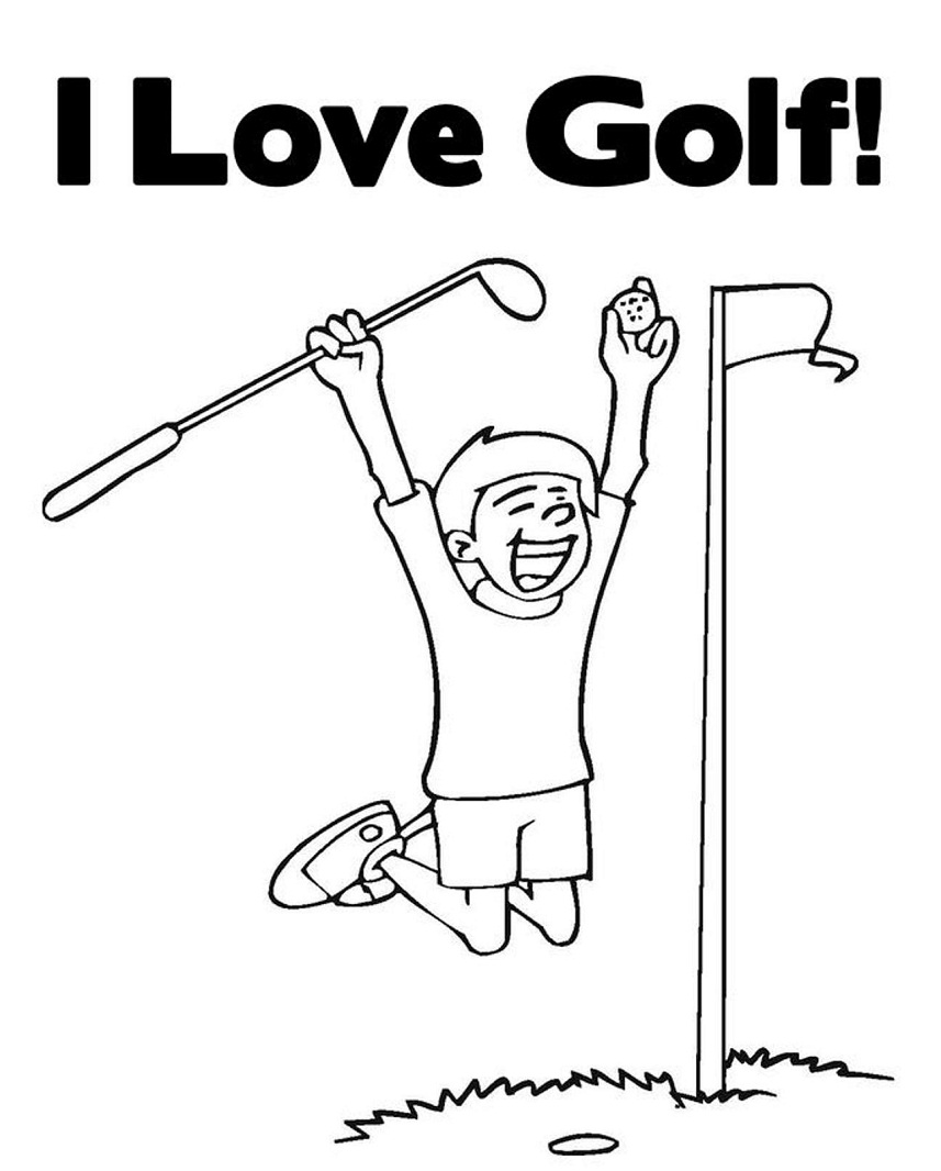 Top 20 Printable Golf Coloring Pages
