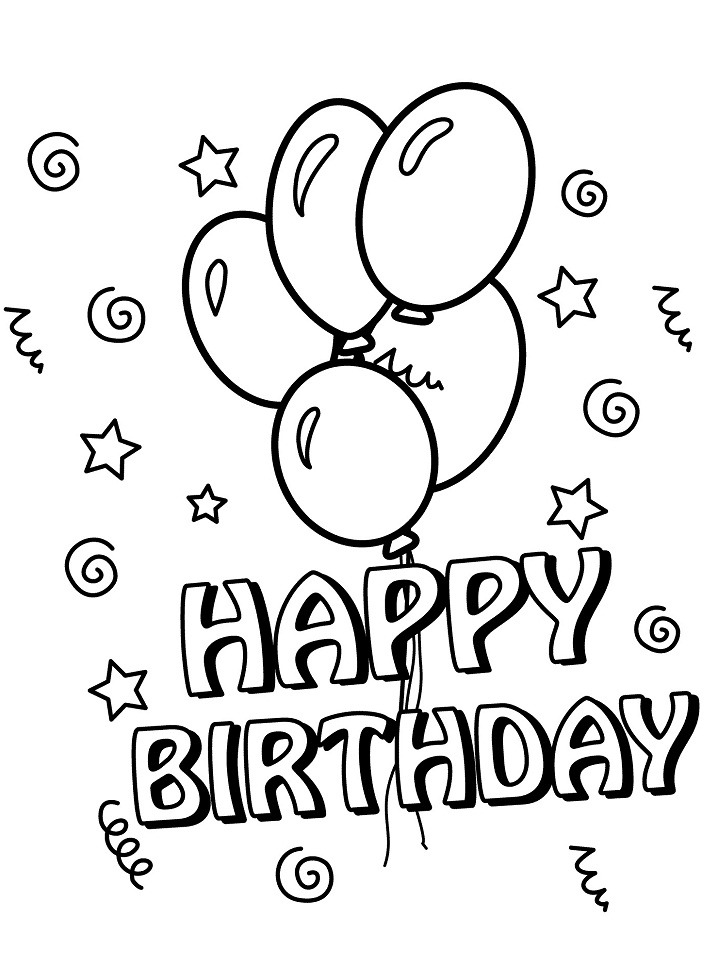 Top 20 Printable Birthday Coloring Pages