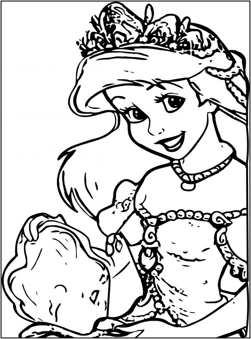 Top 20 Printable Little Mermaid Coloring Pages Online Coloring Pages