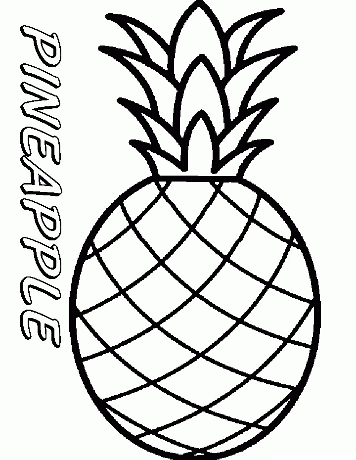 Top 20 Printable Pineapple Coloring Pages