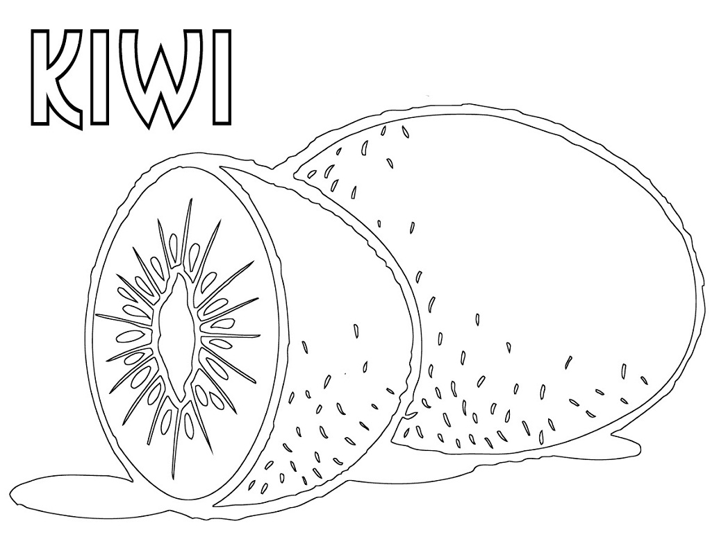 Top 20 Printable Kiwi Coloring Pages
