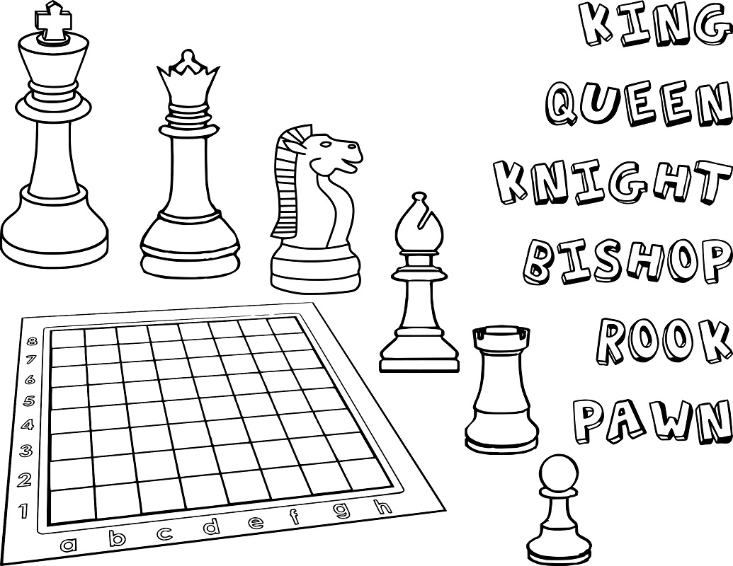 Top 20 Printable Chess Coloring Pages