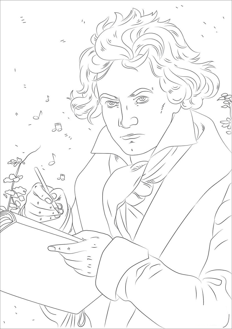 Top 20 Printable Famous Composer Coloring Pages