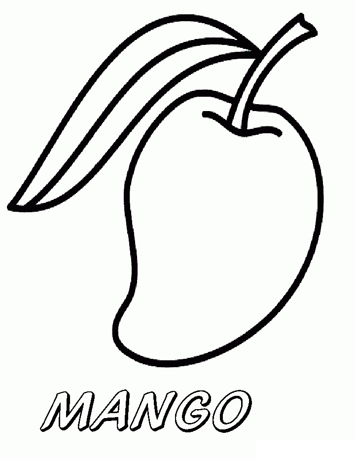 Top 20 Printable Mango Coloring Pages