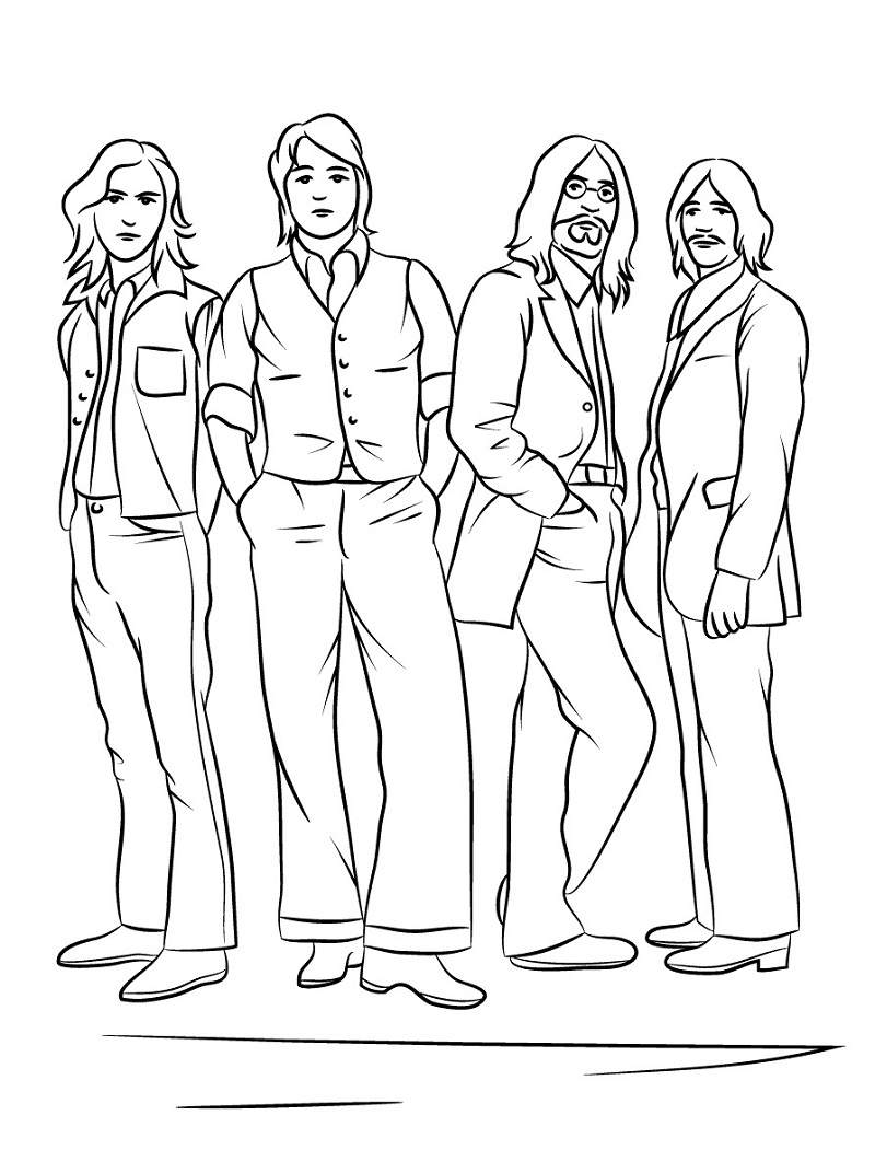 Top 20 Printable Rock Star Coloring Pages