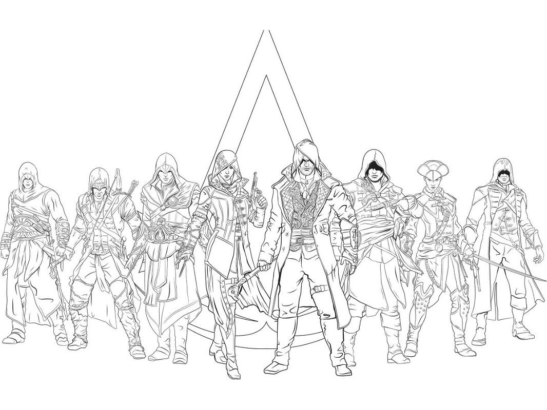 Top 20 Printable Assassin's Creed Coloring Pages