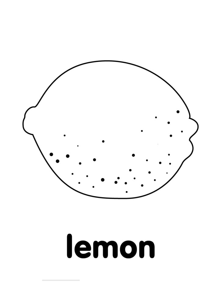 Top 20 Printable Lemon Coloring Pages