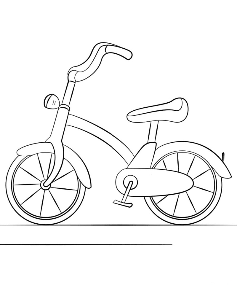 Top 20 Printable Bicycle Coloring Pages