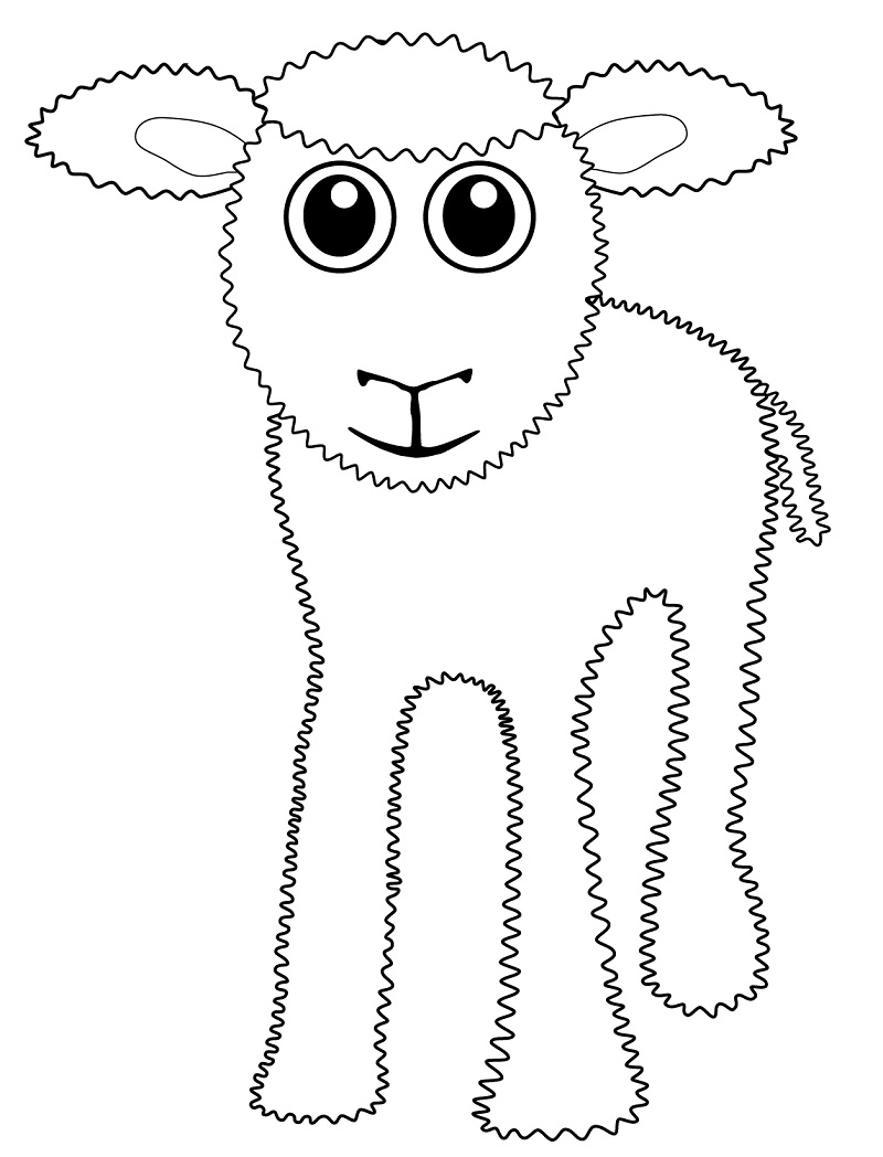 Top 20 Printable Sheep Coloring Pages