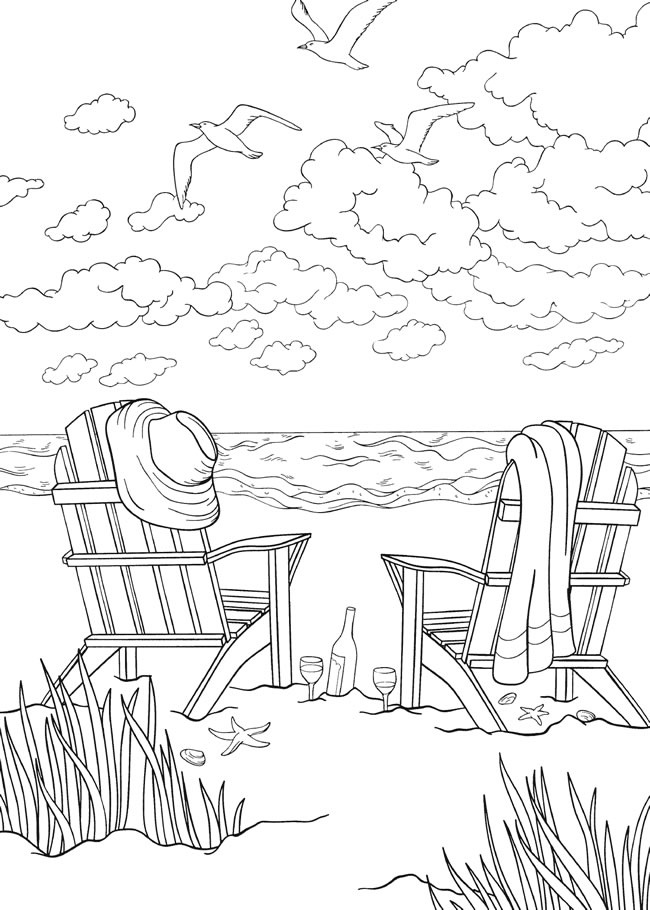 Top 20 Printable Beach Coloring Pages