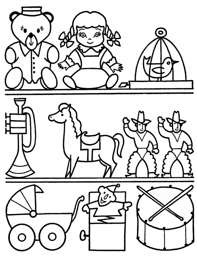 Top 20 Printable Toy Coloring Pages