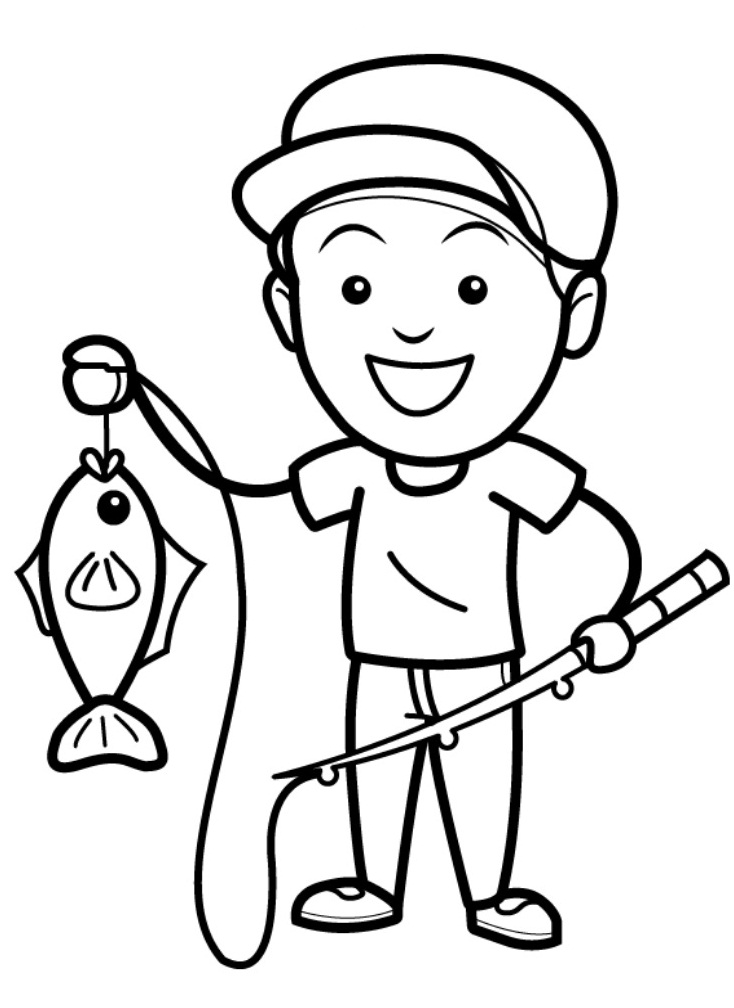 Top 20 Printable Fishing Coloring Pages