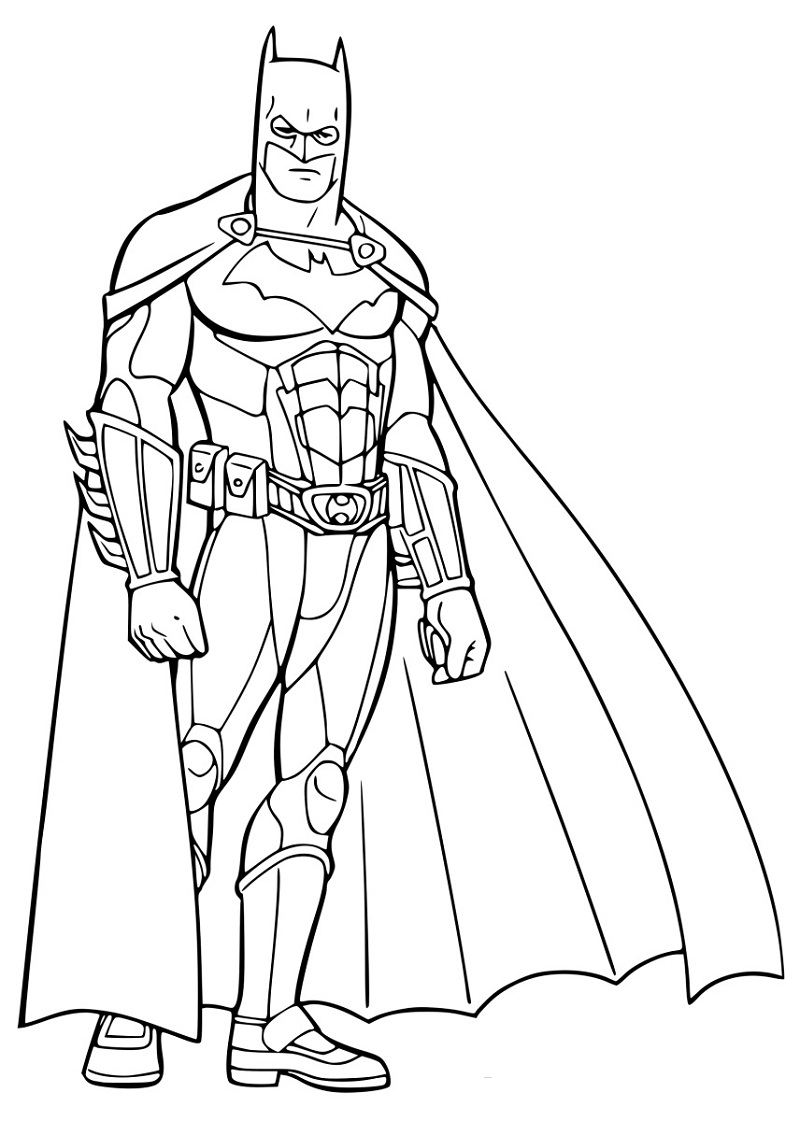 Top 20 Printable Batman Coloring Pages