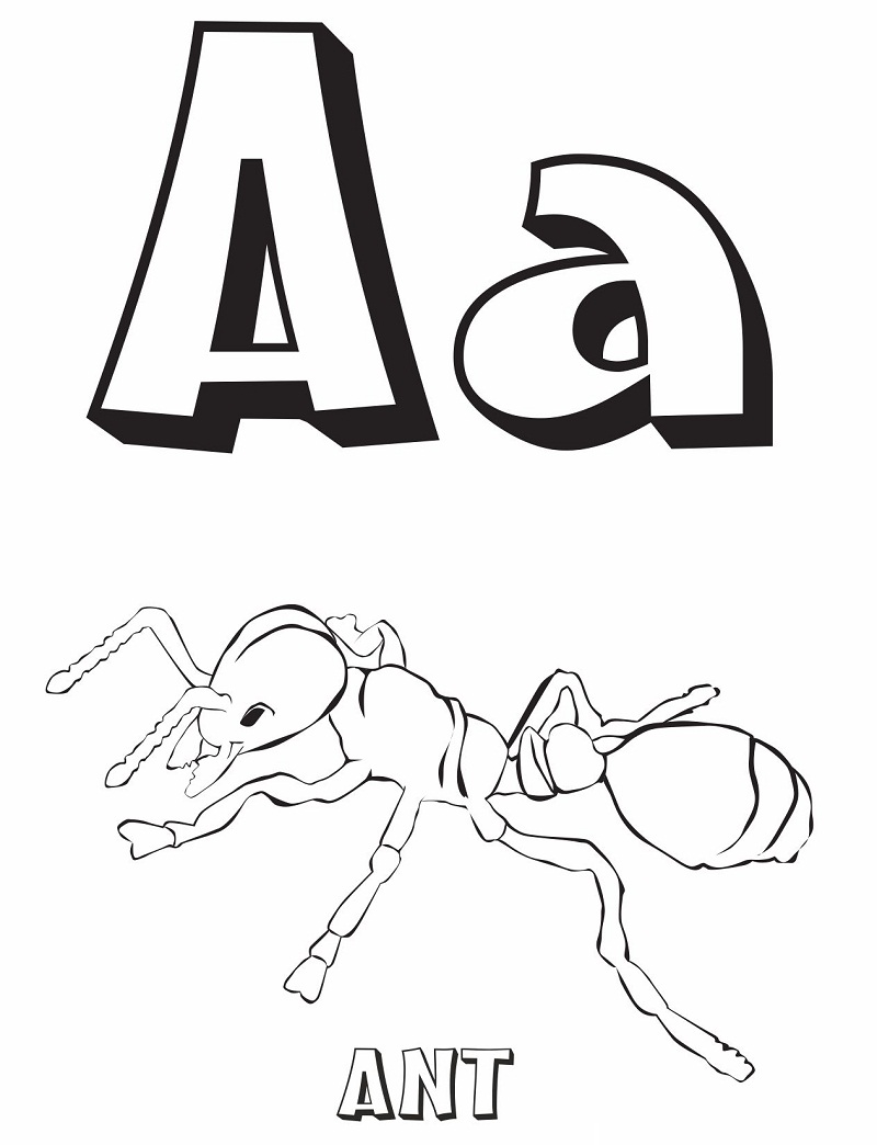 Top 20 Printable Letter A Coloring Pages - Online Coloring ...