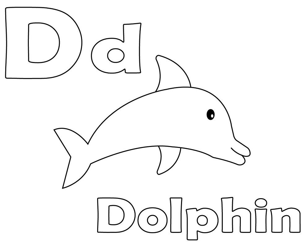 Top 20 Printable Letter D Coloring Pages